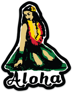 Sitting Hula Sticker