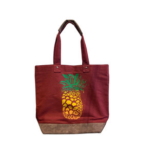 Pineapple Leather Tote