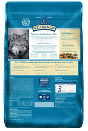 Blue Buffalo Wilderness High Protein Grain Free, Natural Adult Large Breed Healthy Weight Dry Dog Food, Chicken 24-lb
