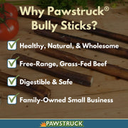 "12"" Straight Bully Sticks for Dogs [X-Large Thickness] (100 Pack) - All Natural & Odorless Bully Bones 
