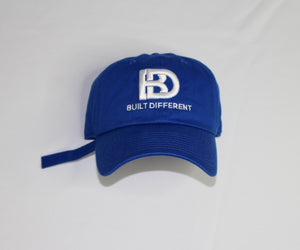 Built Different Dad hat (Royal)
