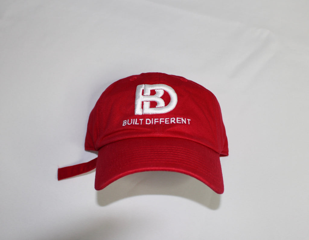 Built Different Dad Hat (Red)