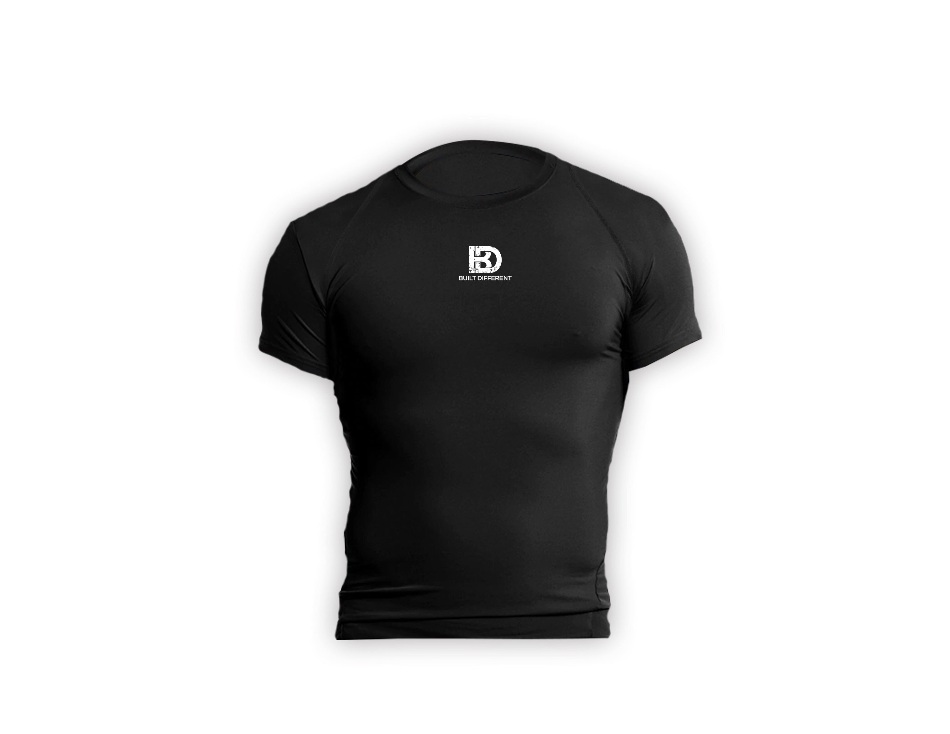 Built Different Compression Tee- Black