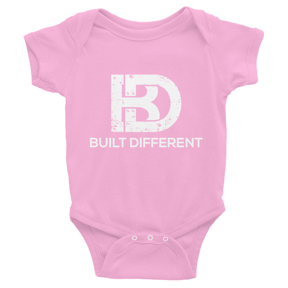 Built Different Baby Bodysuit Pink