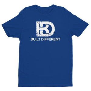 Built Different Logo T-Shirt Blue