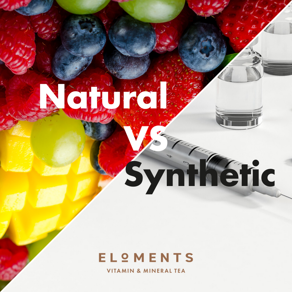 What is the difference between synthetic and natural vitamins?
