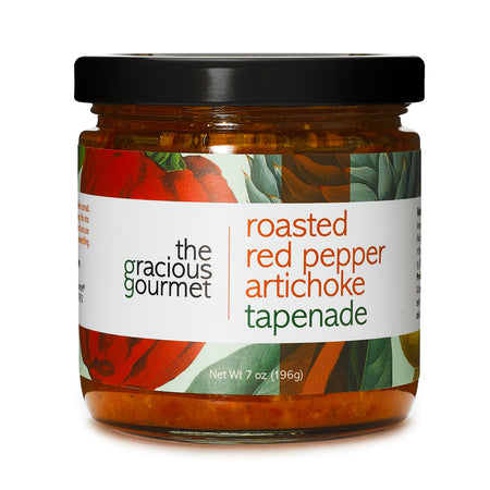 The Gracious Gourmet Roasted Red Pepper Artichoke Tapenade