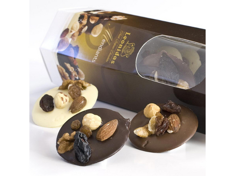 Dark, Milk and White Chocolate Mendiant - Dried Fruits in Chocolate - Belgium