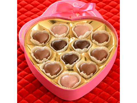 Chocolate Truffles - Pink Heart Collection - Belgium