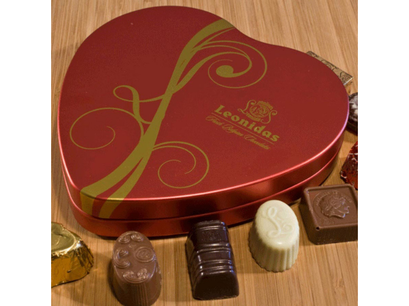 Chocolate Truffles - Sweetheart Tin - Belgium