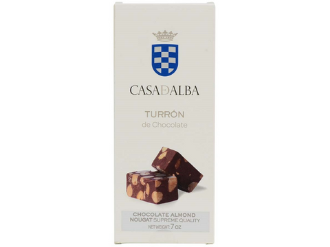 Chocolate Almond Nougat - Turron de Chocolate  - Spain