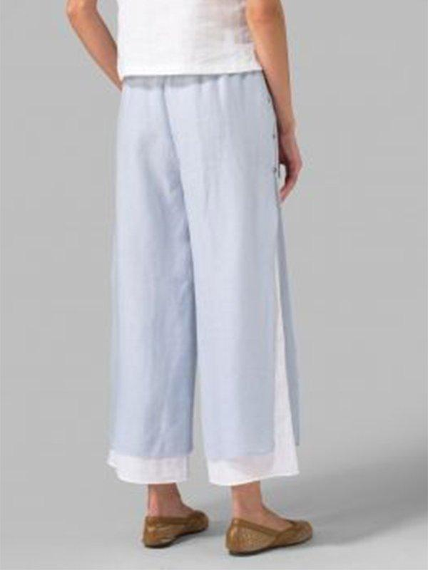 Casual Large Size Patchwork Pants - ithelens