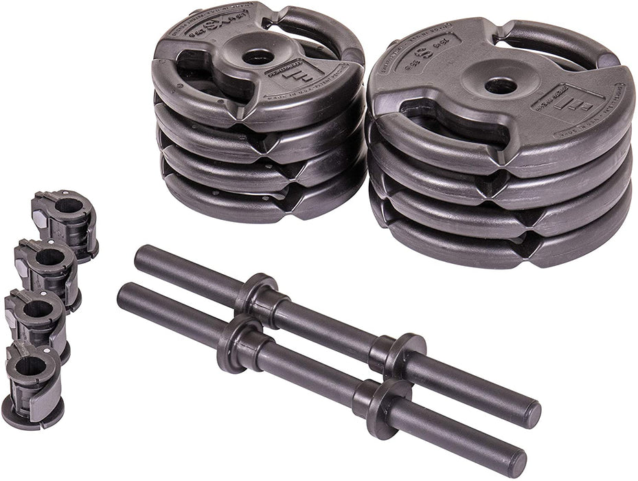 4-Weight Deluxe Dumbbell Set by Step Fitness (Sold as a Pair)