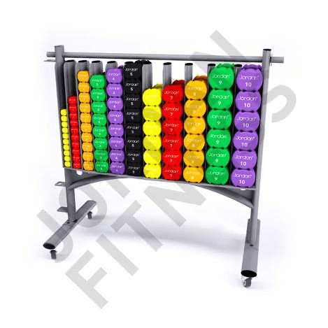 42 pairs & rack Studio Dumbbells