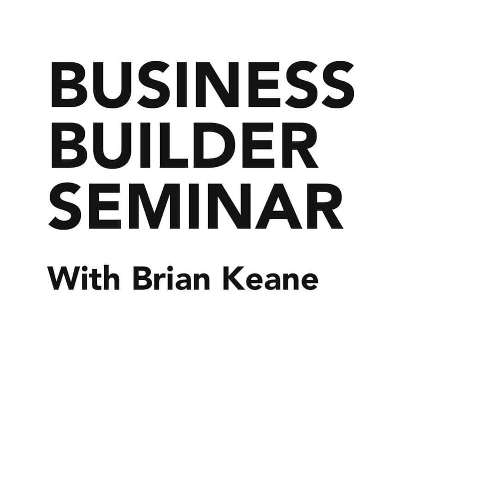 Course Business Builder Seminar with Brian Keane