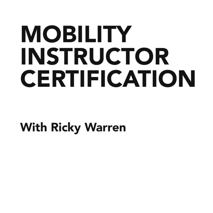 Course Mobility Instructor Certification