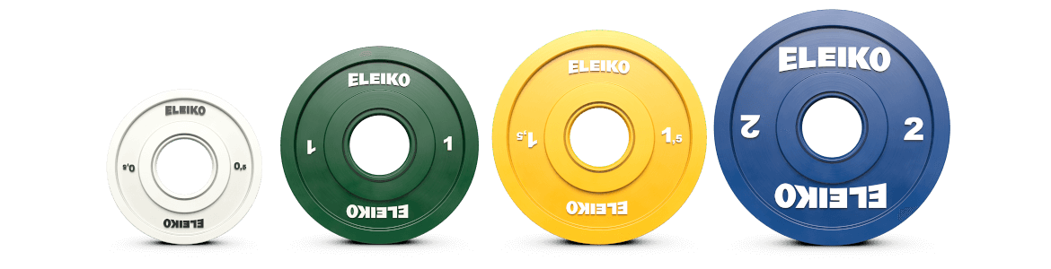 Disc 1KG Eleiko IWF Weightlifting Friction Grip Competition Training Discs
