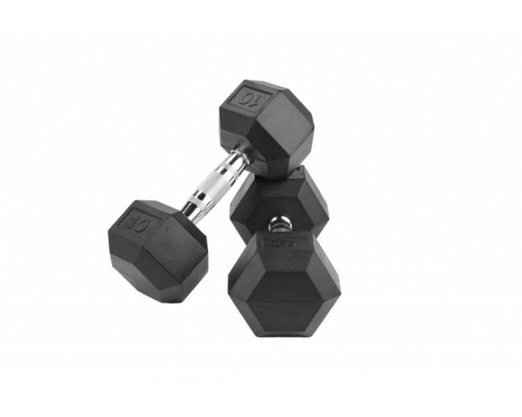 Dumbells FitBench Rubber Hexagon Dumbbells (Pair)