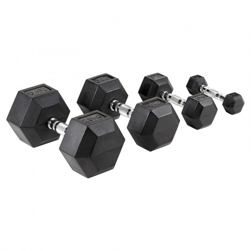 Dumbells XLR8 Hexagon Rubber Dumbbells (Each)