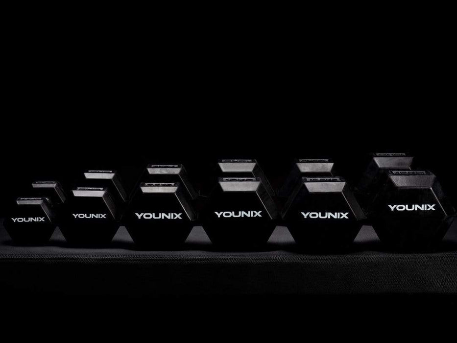 Dumbells Younix Hexagonal Dumbells (Each) Pre-Order arrival 15th June