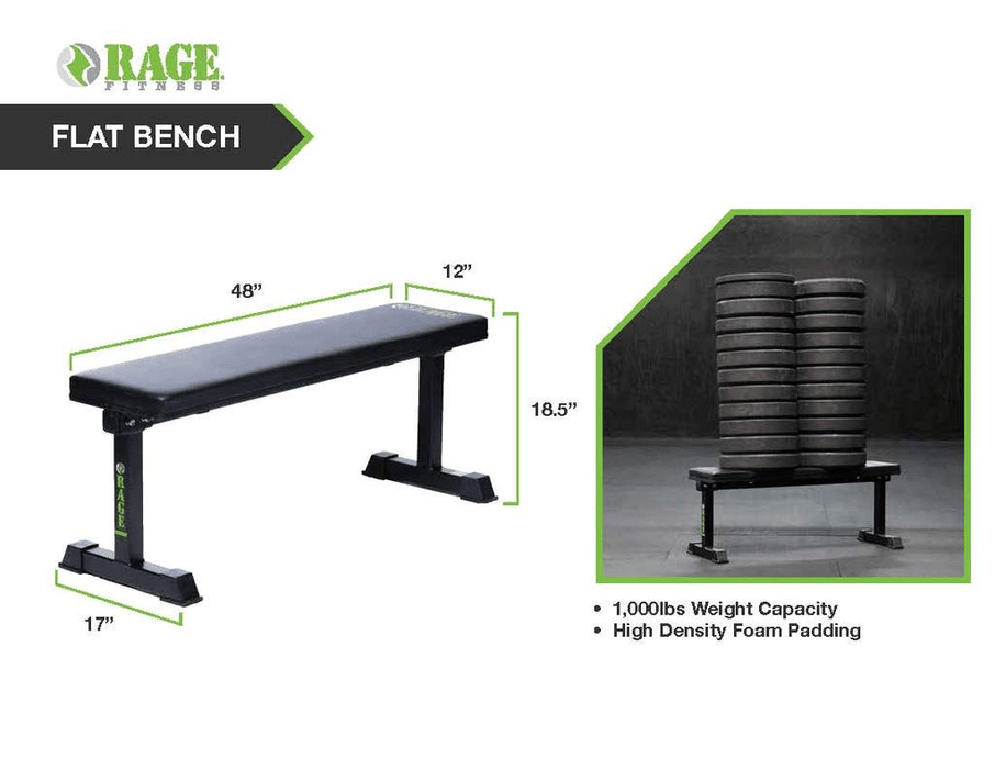 Exercise Bench Flat Bench - Rage Fitness