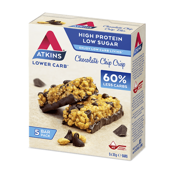 Nutrition Atkins Chocolate Chip Crisp Protein  Bar