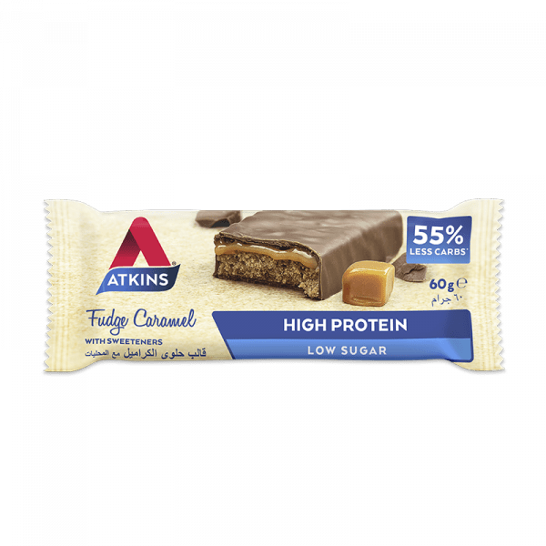 Nutrition Atkins Fudge Caramel Protein Bar- AED 157.50