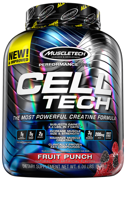 Nutrition Muscle Tech Cell Tech 6lbs Fruit Punch Muscle Tech Cell Tech 6lbs