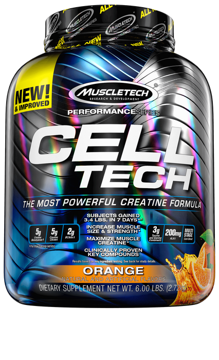 Nutrition Muscle Tech Cell Tech 6lbs Orange Muscle Tech Cell Tech 6lbs