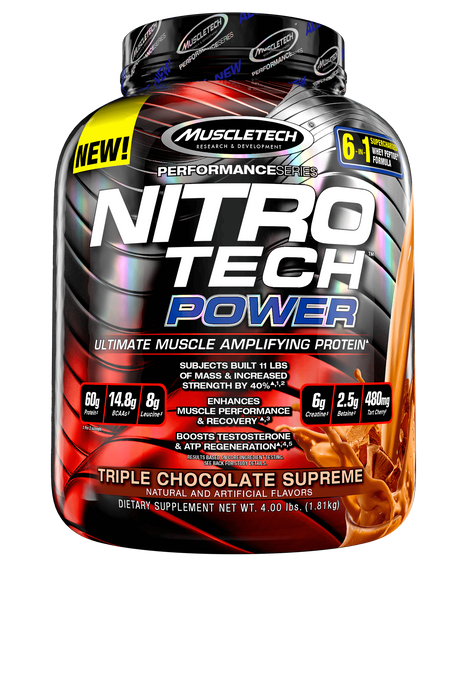 Nutrition Muscle Tech Nitro Tech Power 4lbs Chocolate