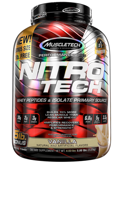 Nutrition Nitro Tech 5lbs Vanilla Muscle Tech Nitro Tech 5lbs