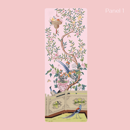 Yoga Mat Sugarmat Pink Pampas Panel 1 Yoga Mat