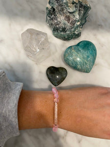 Pink Rose Mystic Quartz