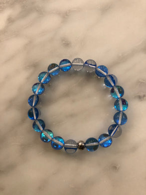 "The ""SKY BLUE MYSTIC AURA QUARTZ"" Bracelet 💙"