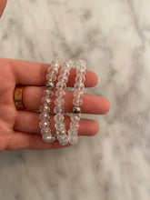 Load image into Gallery viewer, Clear Quartz Rondelle Bracelet