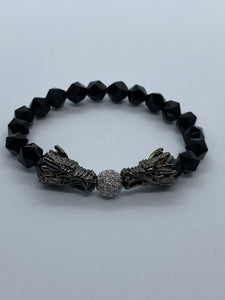 BLACK ONYX DRAGON BRACELET