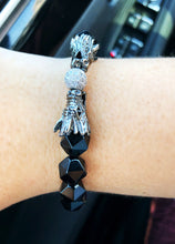 Load image into Gallery viewer, BLACK ONYX DRAGON BRACELET