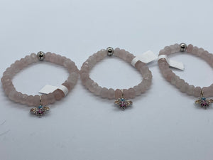 ROSE QUARTZ BUG BRACELET