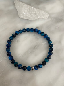 Men's Blue Green Tigers Eye