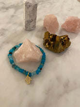 Load image into Gallery viewer, SKY BLUE AGATE HAMSA BRACELET