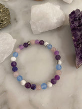 Load image into Gallery viewer, Amethyst, Rose Quartz, Aquamarine, Howlite