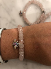 Load image into Gallery viewer, ROSE QUARTZ BUG BRACELET