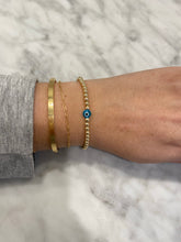 Load image into Gallery viewer, TURQUOISE Gold Filled Evil Eye Bracelet