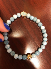 "Load image into Gallery viewer, The ""LARIMAR HAMSA HAND"" Bracelet"