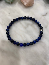 Load image into Gallery viewer, BLUEBERRY Tiger's Eye Men's Logo Bracelet