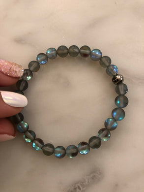 "The ""BLACK MYSTIC AURA QUARTZ"" BRACELET"