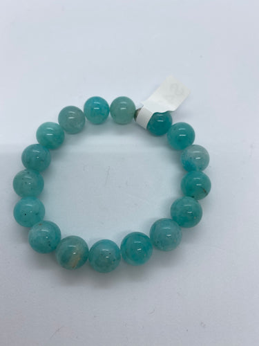 Amazonite Big Bead Bracelet