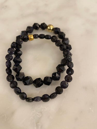 BLUE GOLDSTONE SET