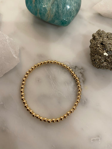 Gold Filled Ball Bracelet 4mm