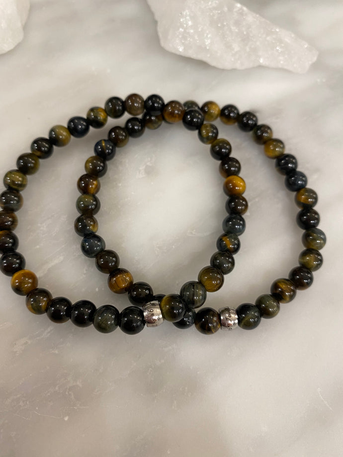 Men's Yellow Blue Tiger's Eye
